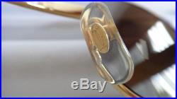 Vintage Cartier Giverny Gold & Wood 51/20 Full Set Brown Lens France Sunglasses