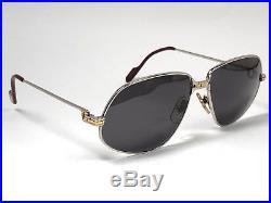 Vintage Cartier Panthere Platine 59mm Medium Sunglasses Mede In France 18k