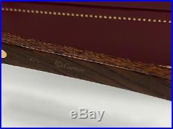 Vintage Cartier Rimless Precious Wood Motif C Decor Sunglasses France 18k