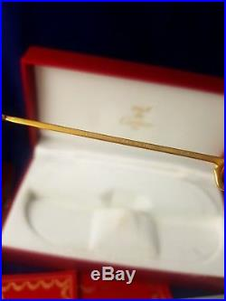 Vintage Cartier Santos Screws 62mm Sunglasses France 18k Gold Mint Full Set