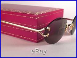 Vintage Cartier Scala Oval Gold 55mm France Sunglasses Made In France