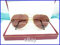 Vintage Cartier Vendome Sunglasses Made In France Rare Occhiali 62-14-140 #5