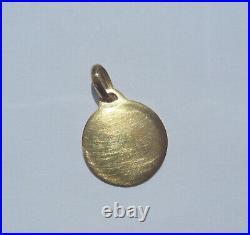 Vintage French'+ Qu'hier Que Demain' Charm / Love Pendant, Augis, Gold 18k