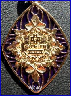 Vintage French'+ Qu'hier Que Demain' Charm Pendant, A. Augis, Gold 18k, 2.7 Gr