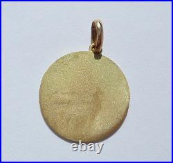 Vintage' Lucky Star' Charm / Love Pendant, Solid 18k Gold, 3 Gr