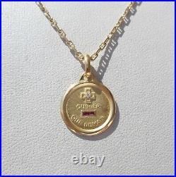Vintage'+ Qu'hier Que Demain' Charm / Love Pendant, Augis, Gold 18k