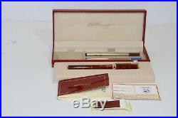 Vintage ST DUPONT Rollerball Pen Chinese Laquer Gold Trim Made in France