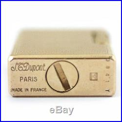 Vintage S. T. Dupont Gold Plated. Paris. Made in France. SN 3841Y