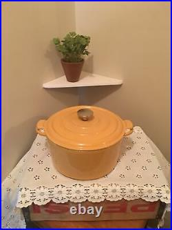 Vintage Staub Butternut 5 Qt Dutch Oven Made In France Good Used Condition