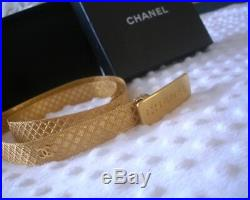 Vintage Ultra Rare! Authentic CHANEL Belt Metal Gold Plated 97A Made in France