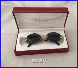Vintage/classic Cartier Womens 18k Gold Plated Reading Glasses Made In France