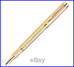 Waterman Solid Gold Le Man Solid 18K Gold Fountain Pen Medium Pt New In Box