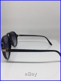 Yves Saint Laurent YSL Victor Hugo 9091 Aviator Sunglasses Black & Gold France